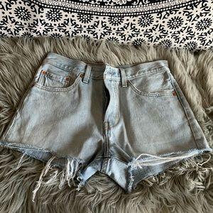 Levi's 501 denim cut-off shorts